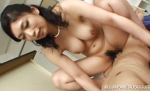 Startling big boobed Hikari Hino is always ready for some very interesting banging
