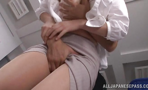 Slim Rina Ishihara gets drilled hard by hunk