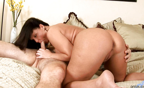 Horny gal Maya Divine moans on huge ramrod after a passionate foreplay