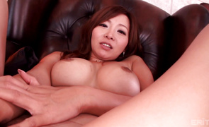 Enticing breasty Kaori gobbles up a dick