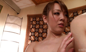 Lascivious older Hitomi Tanaka with round tits seduces male