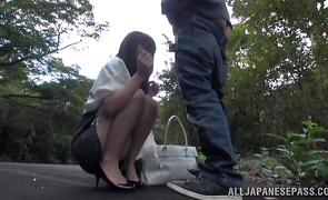 Sexual Akari Shimizu is a doggystyle position and getting fucked very hard in the juicy putz