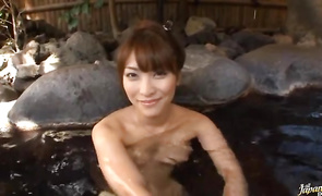 Hot-tempered big boobed mature minx Kokomi Sakura rides a dick like a boss