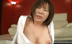 Remarkable bosomed mature Nanako Mori is getting fucked in a doggystyle position in the late afternoon