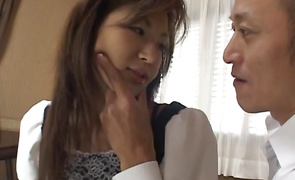 Lovely breasty darling Mai Hanano got down and dirty with hot stud