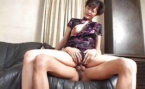 Beautiful older Mako Takeda with firm tits fucked the way she wanted