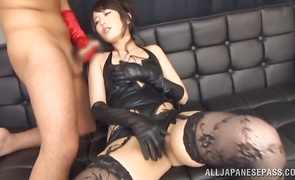Fascinating playgirl Chika Arimura has a fuck that's leaving her shook up