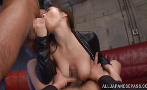 Voracious babe Shiori Kamisaki getting her bawdy cleft knocked the fuck out