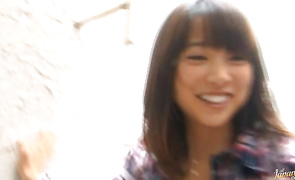 Alluring girl Haruka Itoh is having casual sex with a playmate who just discovered her