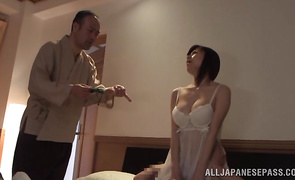 Filthy busty playgirl Chihiro Akino with wet tang is incredible and hot