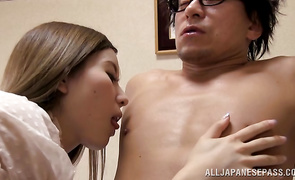 Awesome mature bombshell fiercely rides hunk's throbbing meat rocket