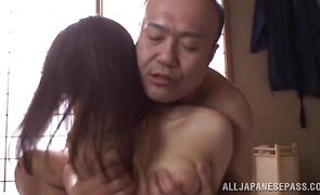 Appealing beauty with huge tits is excited to demonstrate her sex skills