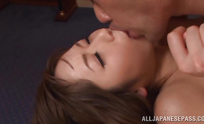 Sassy gf Yuu Asakura puts a boner in her moist throat
