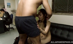 Lusty older Nao Ogawa fuck her playmate is what love is about