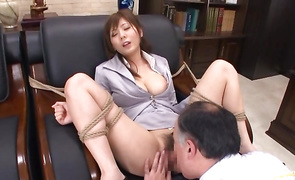Hot mature sweetie Yuma Asami with curvy tits is ready for some intensive pounding