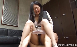 Delectable gal Sae Aihara who gets her vagina annihilated