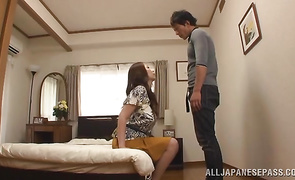 Slutty Aoi Aoyama with huge tits and boyfriend decided to fuck in the midst of the day like insane