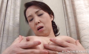 Carnal bosomed Yuuko Kuremachi receives a dick in her mouth