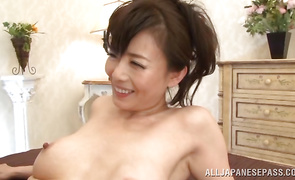 Stupendous aged Eriko Miura decided to begin making porn videos right away