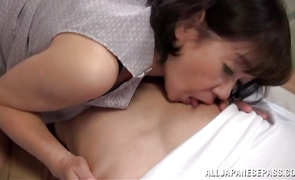 Overwhelming woman Rie Takahashi is incredible and ready for some sexy banging
