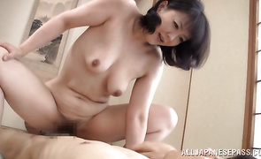 Appetizing older lady Hitomi Enjou is avid to suck boner