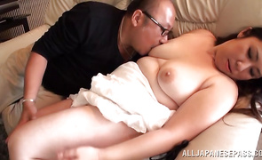 Captivating floosy with firm tits enjoys sucking a big penis