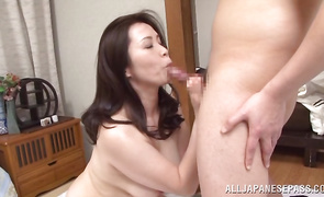 Hotty Yuuko Kuremachi with giant tits is topnotch and enjoys riding a hard boner