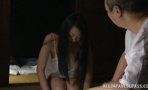 Playful busty mature girlfriend is sucking hard pole with passion