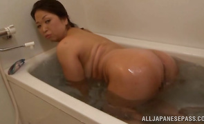 Gorgeous bosomed aged Natsuko Kayama is getting fucked by hunk