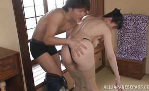 Glorious big titted babe Hitomi Oohashi is always in the mood for sex