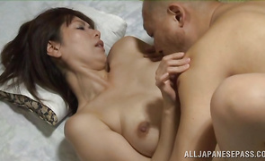 Appetizing beauty can't keep quiet while being banged by a big cock