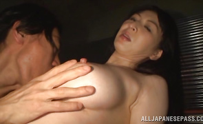 Delightful mature Hitomi Oohashi with firm tits gets paid to ride a 10-pounder