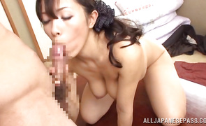 Wanton mature floosy Yukino Shindou with curvy tits and fella give you a hot erotic fuck show