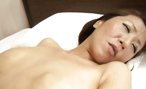 Pretty big breasted mature Rika Fujishita enjoys facefucking and love tunnel banging