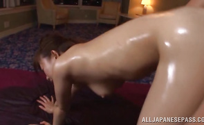 Glorious mature darling with great tits decided to surprise fuckmate to cheer him up after he cums