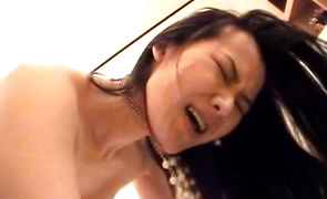 Sexual chick is eager to gag on a long boner