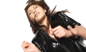 Tasty girlfriend Riko Tachibana gives a wild oral pleasure to her handsome mate