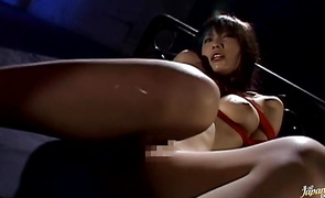 Tempting mature gf Riko Tachibana with curvy tits gives her experienced lad an intense oral-sex