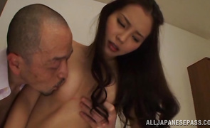 Tasty Emiri Okazaki is whimpering while being roughly plowed in doggy position