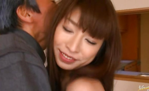 Aphrodisiac mature honey Mika Kayama with large tits got ready for her fucker because he needed a good quick fuck