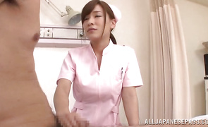 Horny mature Kaho Kasumi enjoys riding a huge and hard weenie