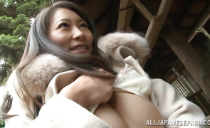 Tasty Kozue Hirayama was sucking a giant pole as unfathomable as she could take it