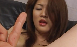 Astounding big breasted floosy Yuki Touma sucks a large fat dinky