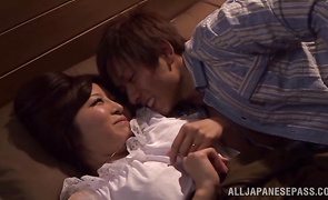 Adorable Kaori with large tits gets her guy banged