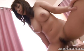 Dishy busty honey receives a hard meat in her tight cherry