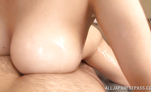 Wanton busty mature darling rides a dong
