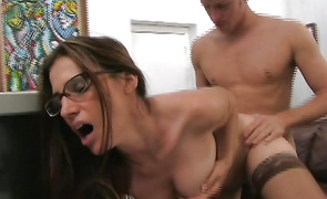 Enjoyable mature latin Cherie is getting fucked and moaning from fun