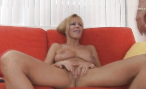 Astounding mature blonde slut Nicole Moore gets her wazoo slammed by buddy