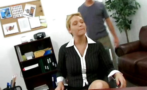 Voluptous blond gf Charlee Chase has a slippery pussy the bf is drilling down
